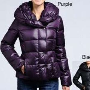 Via Spiga Deep Purple Down Puffer Jacket